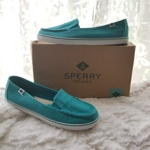 Teal Sperry Boat Shoes